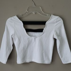 Charlotte Russe Womens Crop Top White Small